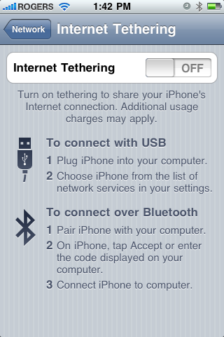 Tethering Off