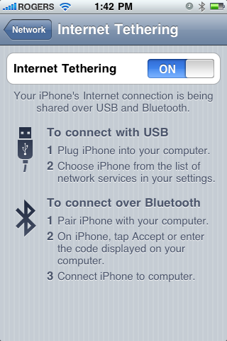 Tethering On